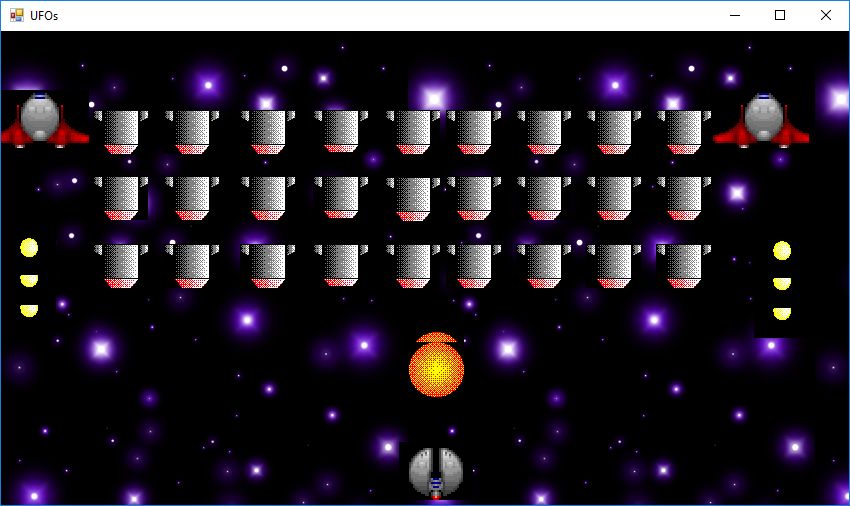 UFOs from EngineeeringComputerWorks.com featuring SpaceFighter firing Plasma Bolts at UFOs invaders. The game is available from EngineeeringComputerWorks.com and is a game with the DIY XBox. For further enquiries, please contact : cjhoong@msn.com ; chan_junt_hoong@ieee.org ; chanjunthoong@theiet.org .