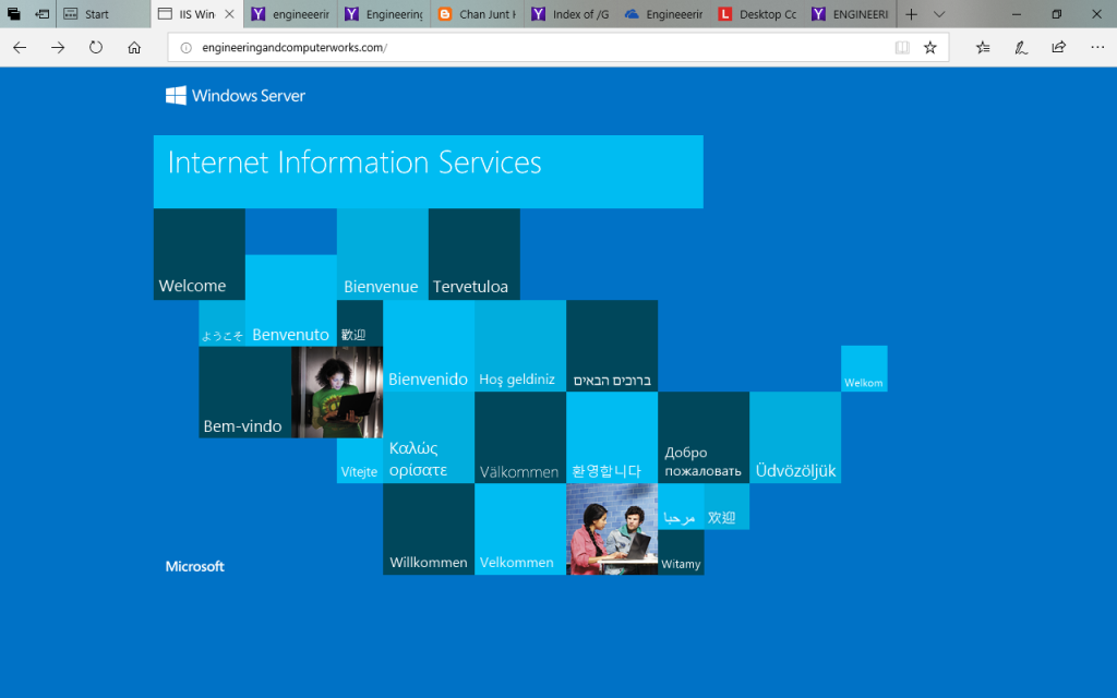 http://engineeringandcomputerworks.com is Microsoft's Internet Information Services website and is linked with Microsoft's Server site. Please view the links as below. Written by Prof Dr Chan Junt Hoong FIET FIEEE BEng CEng.