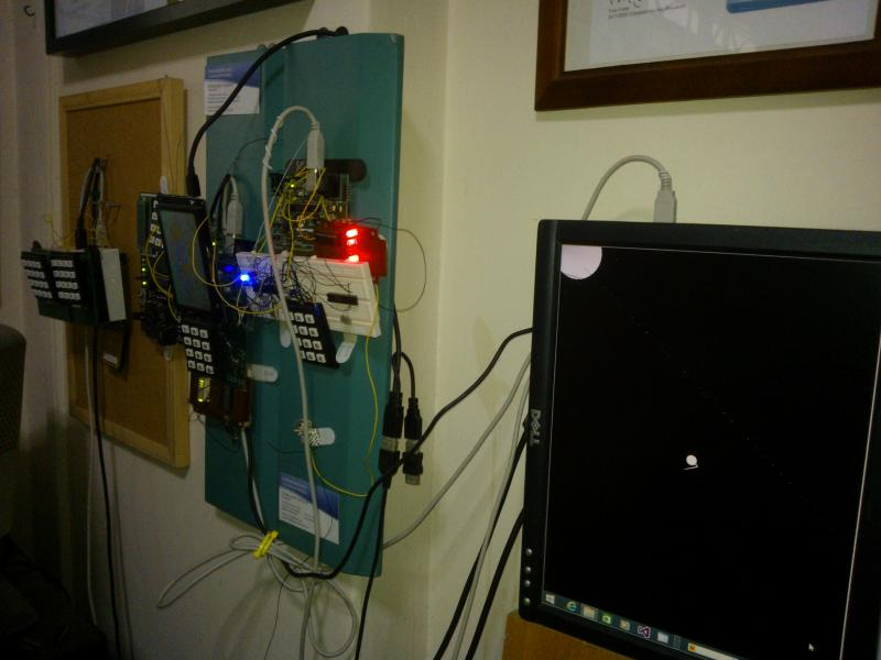 EngineeeringComputerWorks.com ComputerControlSystem is shown functioning with the clock counting upwards in binary 0 to binary 9 and repeating again. This method of counting is BCD or Binary Coded Decimal to allow a count of 10 and repeat. This follows by 60 seconds clock timing with 6 repeats every 10 seconds. The clock has a LCD connection in the program and Microchip PIC 16F84A and will show the time. The clock can be made adjustable with a keypad or buttons to control the time and set the time. For enquiries, please contact cjhoong @msn.com , chan_junt_hoong@ieee.org , chanjunthoong@theiet.org . The EngineeeringComputerWorks.com various ComputerControlSystem and the various clocks are created by Prof Dr Chan Junt Hoong FIET FIEEE BEng CEng .