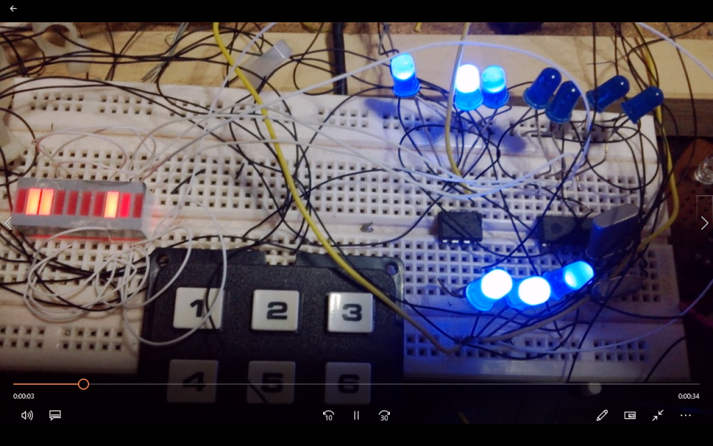 Two Clocks ticking on the Bar LED's and indicating second timing on the LED's by EngineeeringComputerWorks.com and the clocks are available as clocks , timers and stopwatches . Built and Made by Prof Dr Chan Junt Hoong FIET FIEEE BEng CEng .