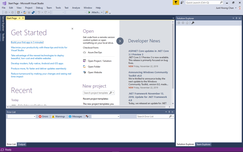 EngineeeringComputerWorks.com has Microsoft Visual Studio 2017 Installed for Programming of the new applications by Professor Dr Chan Junt Hoong FIET FIEEE BEng CEng . Email cjhoong@msn.com .
