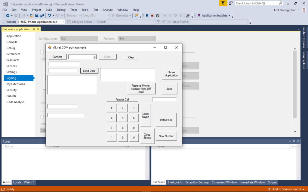 EngineeeringComputerWorks.com ComputerControlSystem driver , Phone Application / Calculator Application utilizing Microsoft Visual Studio 2017 and compiled and running in the Microsoft Visual Studio 2017 . Build and make by Professor Dr Chan Junt Hoong FIET FIEEE BEng CEng .