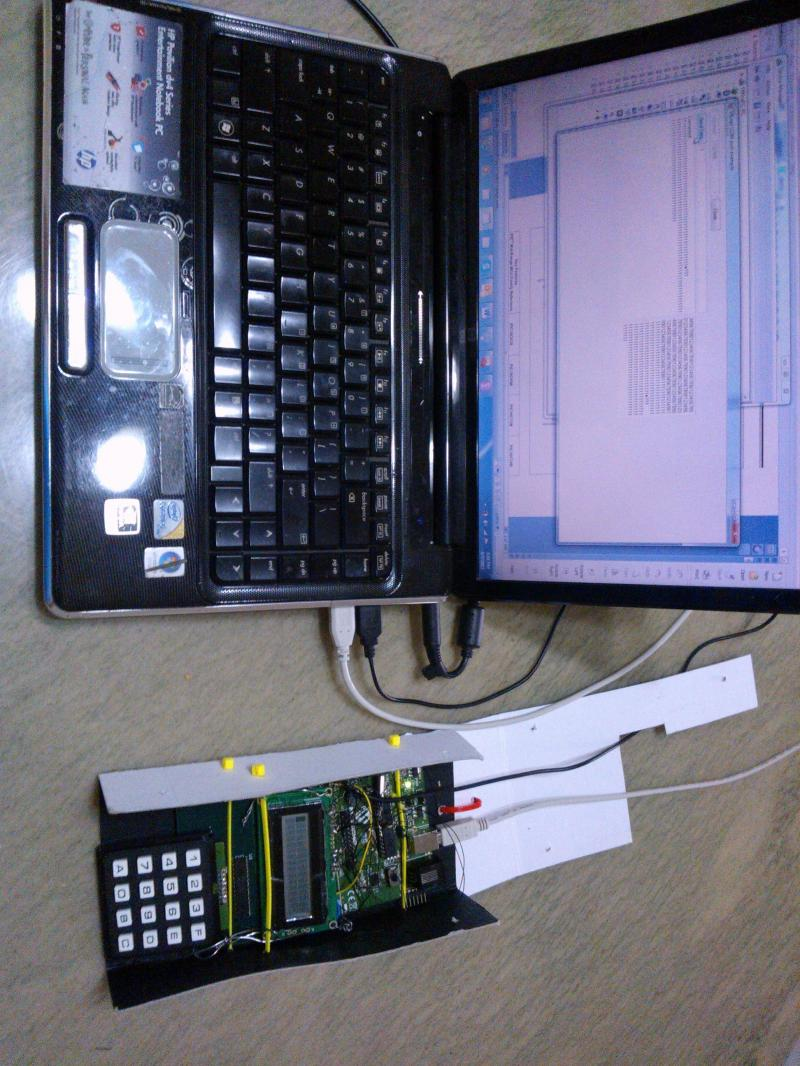 Control system linked via USB to computer