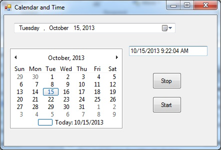 Windows Calendar and Time