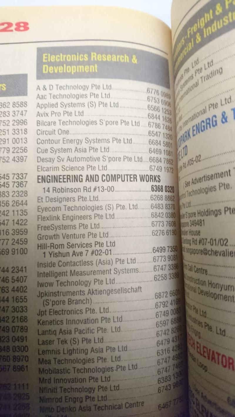 EngineeeringComputerWorks.com Yellow Pages Singapore Listing in 2013.