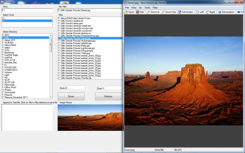 Directory and Image Viewer