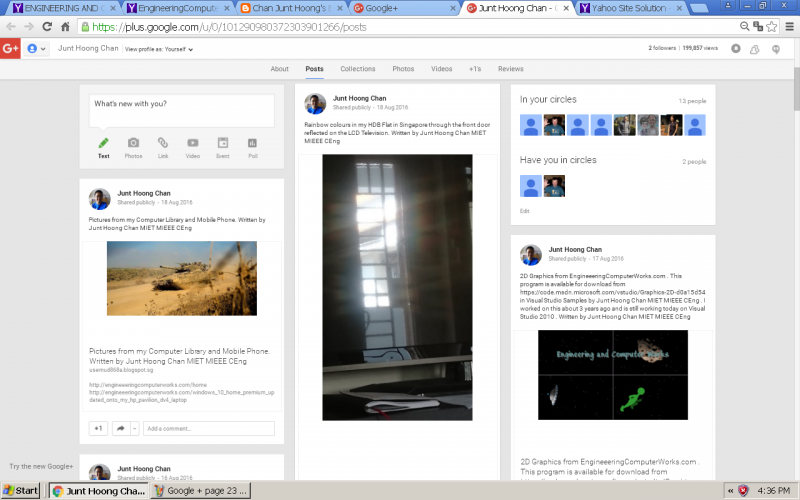 Google + page of Mr. Chan Junt Hoong MIET MIEEE CEng