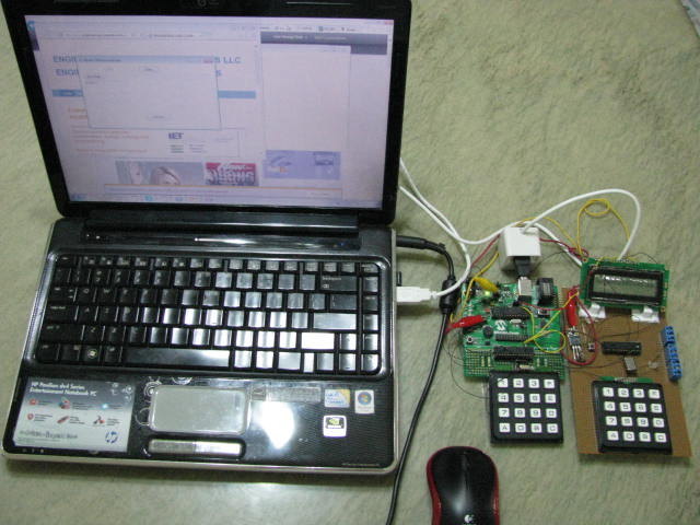 Development of Control System with dual keypad control system with single USB