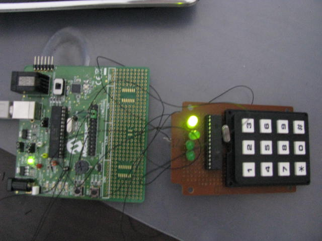 Control System with Keypad