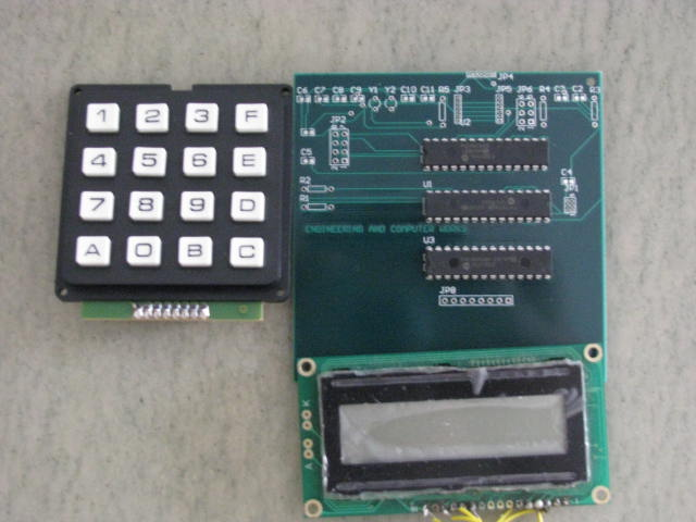 Keypad, control circuit PCB and LCD