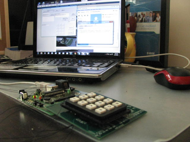 Video and Pictures of Prototype Control System with keypad and Phone ...