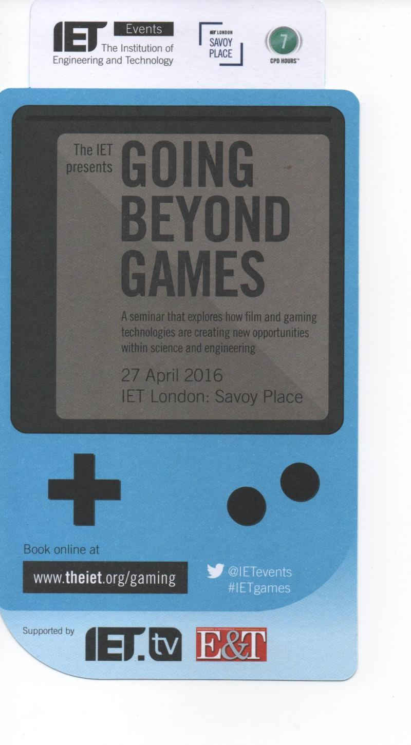 IET Going Beyond Games Issue March 2016