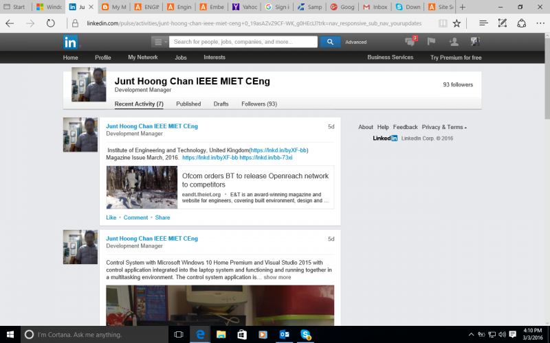 LinkedIn Updates from Chan Junt Hoong