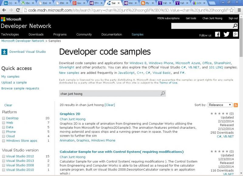 Junt Hoong Chan Microsoft Software Developer Samples Site