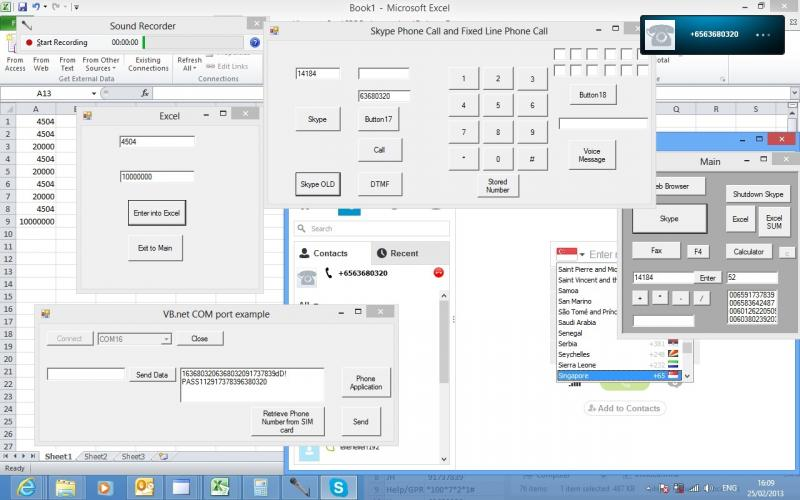 Phone Applicatiob Skype and Control System