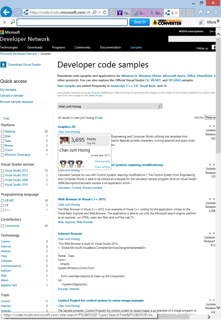 Top 5% of Microsoft Visual Studio Code developers contributors