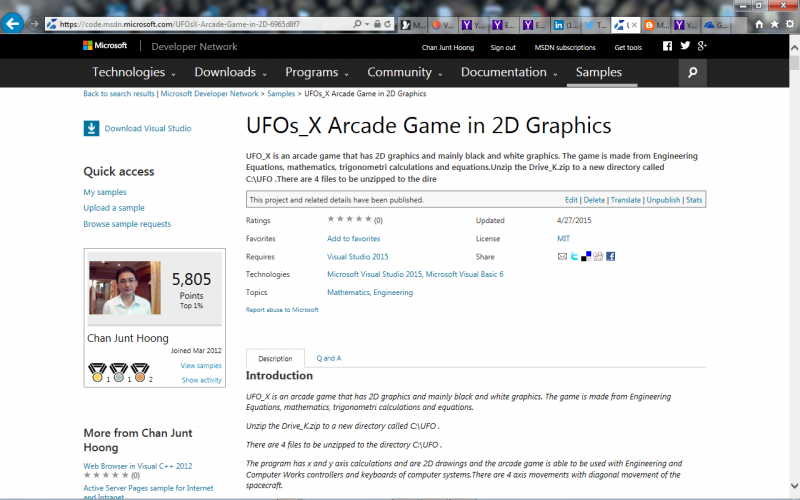 UFOs_X Arcade Game source code