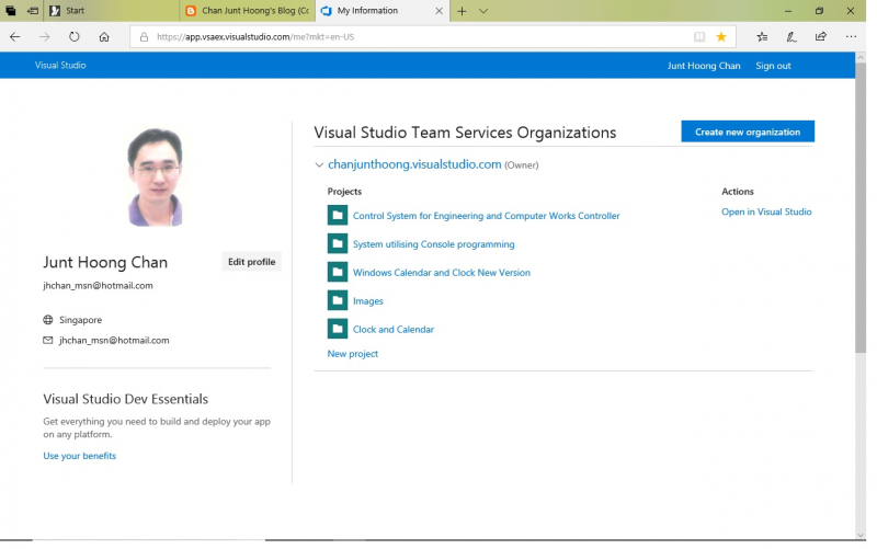 Visual Studio Team Service Organizations