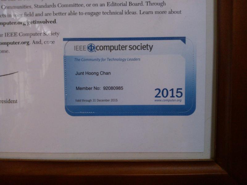 Membership to IEEE@Computer Society