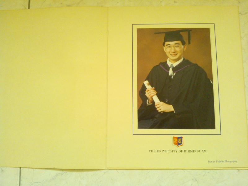 Graduation Photograph of Mr. Chan Junt Hoong or Mr. Junt Hoong Chan or Mr.J Chan