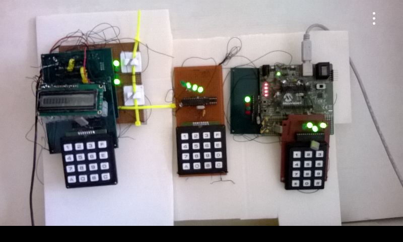 Control Systems with Dot-Matrix LCD and Clocks.
